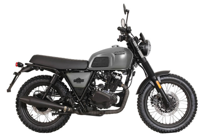 Brixton - Motos BX 125 X Scrambler gris