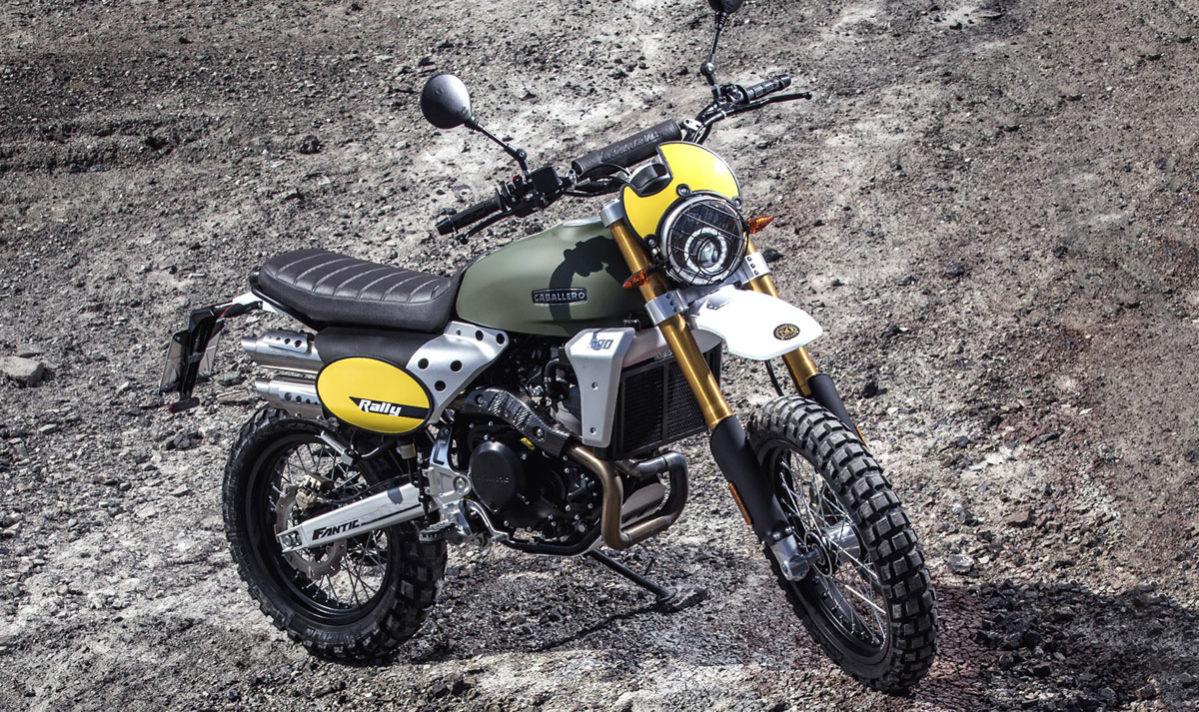 Fantic Caballero - Motos Rally 500cc vue 3/4