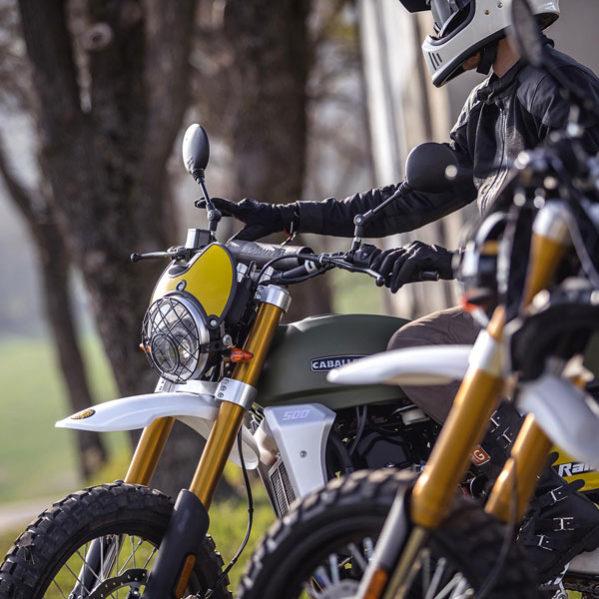 Fantic Caballero - Motos Rally 500cc phare