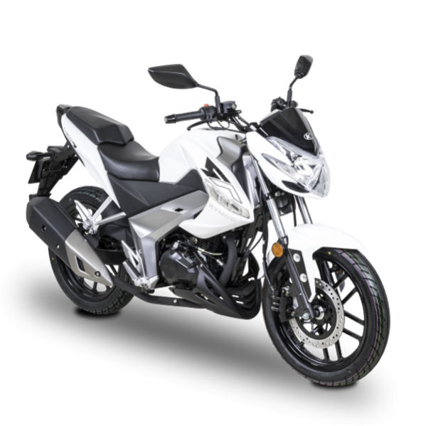Kymco- Motos Visar 125cc blanc