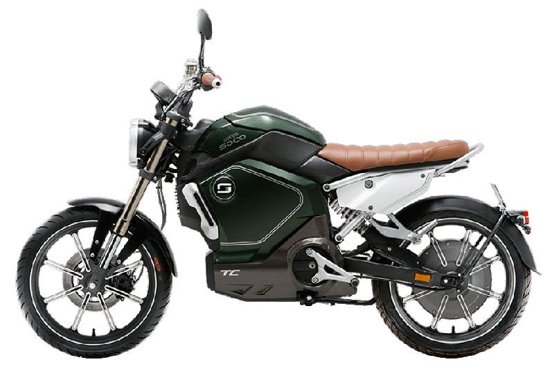 Super Soco TC vert, scooter électrique