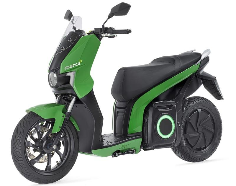 Silence S01-scooter électrique vert