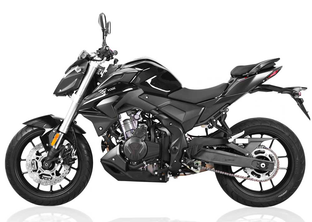Voge 500 R noir profile